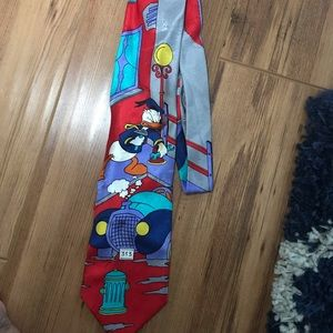Disney Mickey Mouse Donald Duck 90s tie